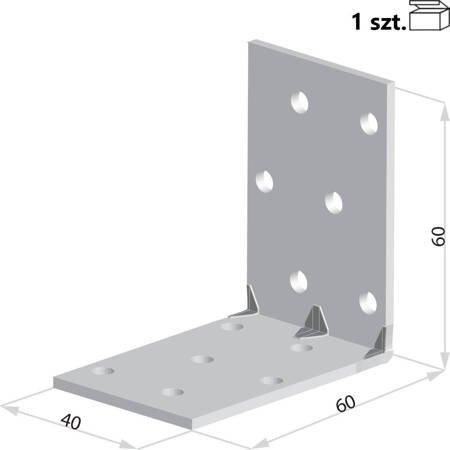 Kątownik KMP4 60x60x40 x 1,5 mm (1 szt.)