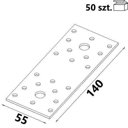 Łącznik płaski ŁP2 140x55x 2,5 mm (50 szt.)