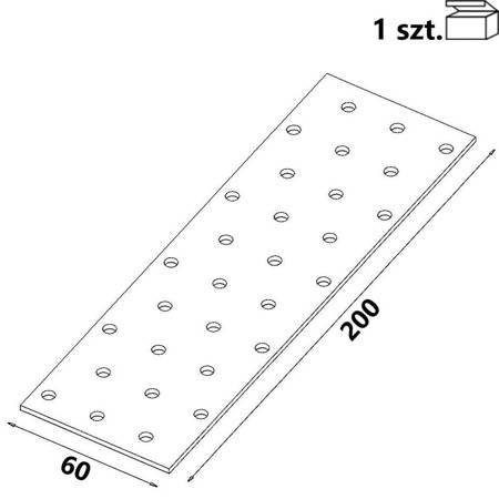 Płytka perforowana PP07 60x200x 2,0 mm (1 szt.)