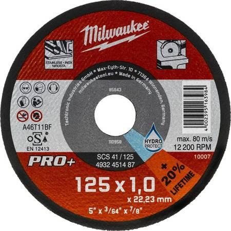 Tarcza do cięcia metalu 125x1 Milwaukee serii PRO+ (1 szt.)