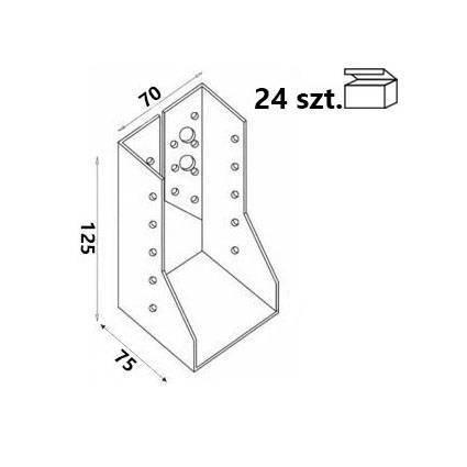 Wieszak belki WZ72 70x125x75x 2,0 mm (24 szt.)